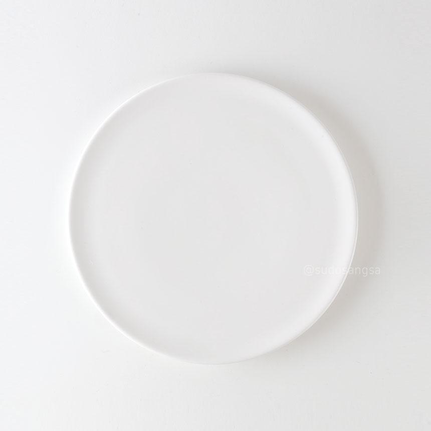 위즈라인 신 원형접시 디저트접시, 플레이팅접시 6인치 화이트