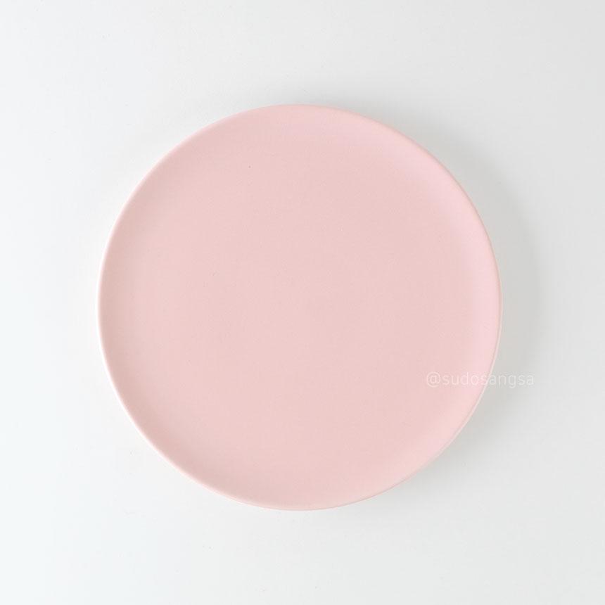 위즈라인 신 원형접시 디저트접시, 플레이팅접시 6인치 핑크