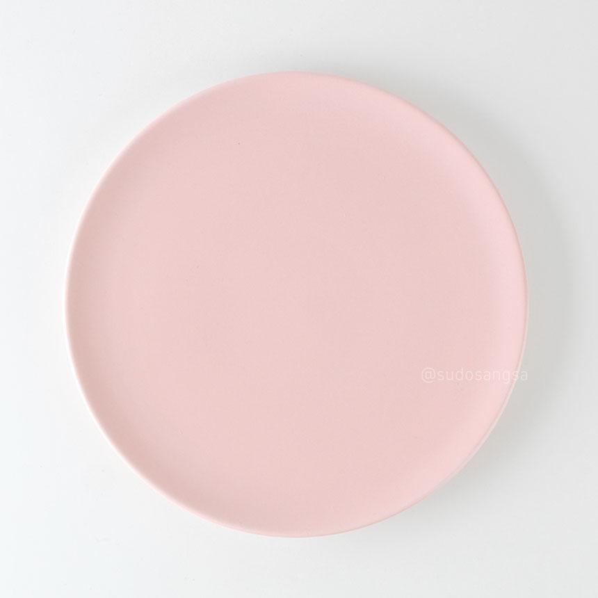 위즈라인 신 원형접시 디저트접시, 플레이팅접시 8인치 핑크