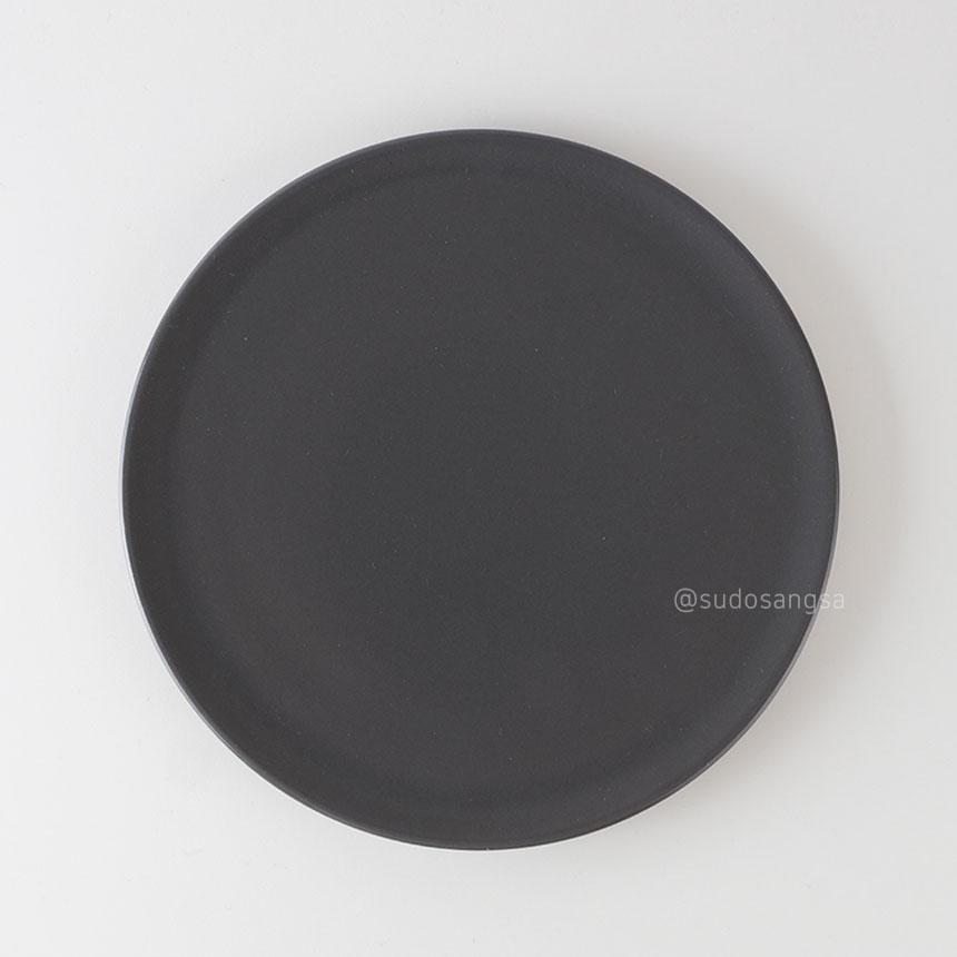 위즈라인 신 원형접시 디저트접시, 플레이팅접시 8인치 다크그레이
