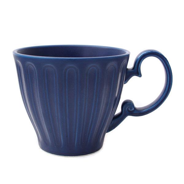 위즈라인 줄머그/머그컵/라떼컵/음료컵 무광 400ml 블루