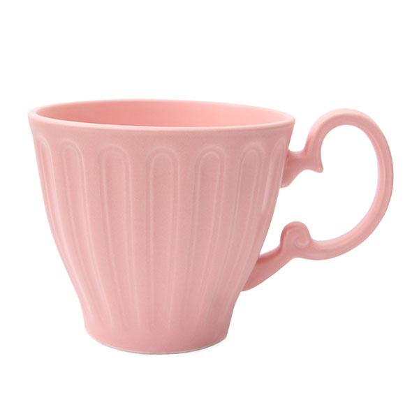 위즈라인 줄머그/머그컵/라떼컵/음료컵 무광 400ml 핑크