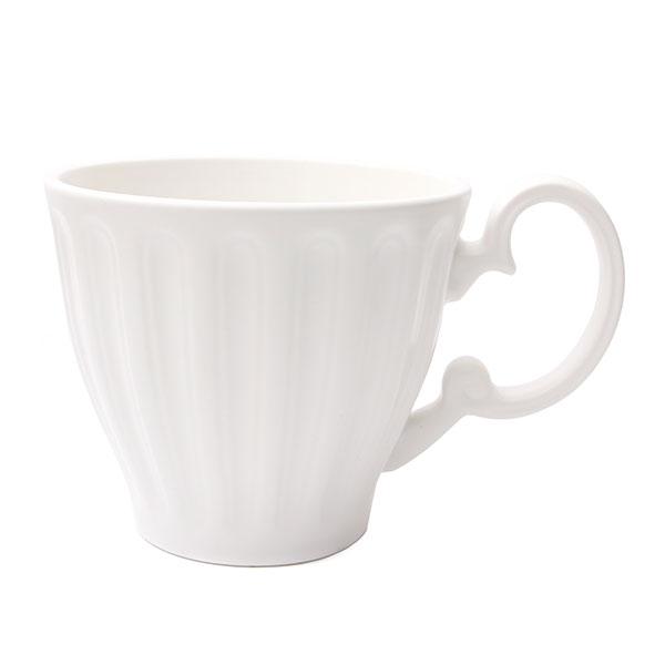 위즈라인 줄머그/머그컵/라떼컵/음료컵 무광 400ml 화이트