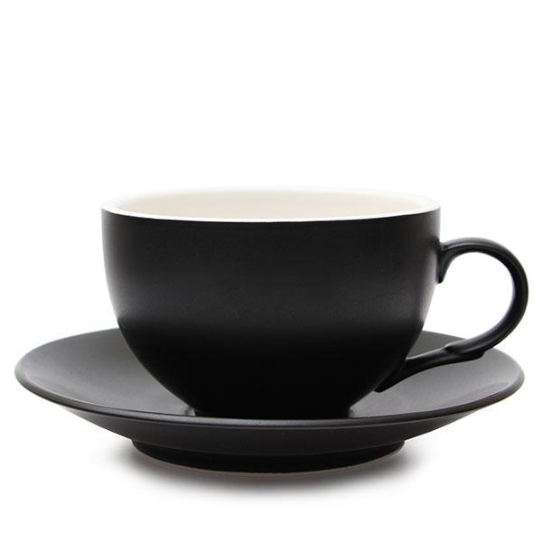 위즈라인 커피잔/라떼잔 무광 까페그릇 대 350ml 블랙