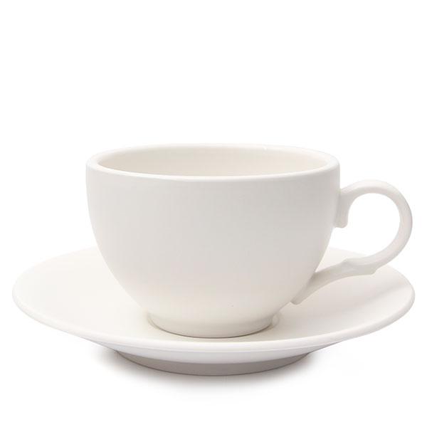 위즈라인 커피잔/라떼잔 무광 까페그릇 대 350ml 화이트