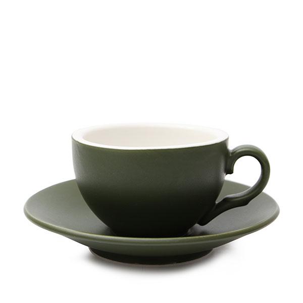 위즈라인 커피잔/에스프레소잔 무광 까페그릇 소 90ml 그린