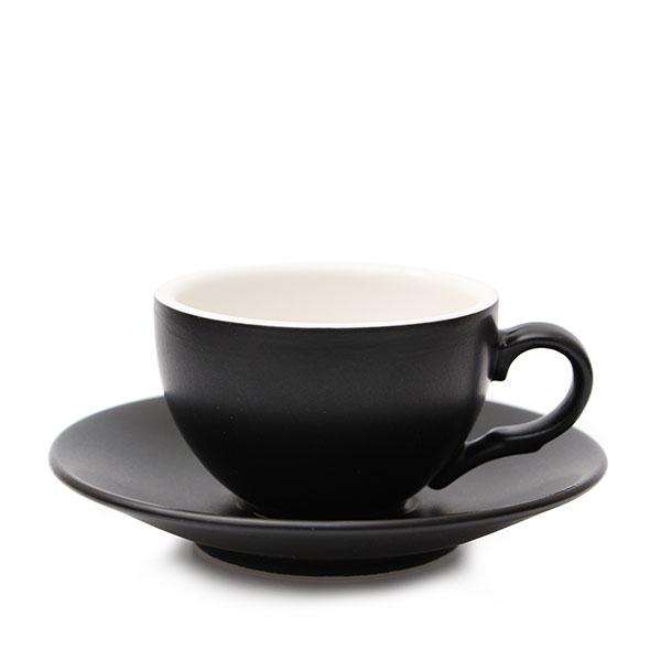 위즈라인 커피잔/에스프레소잔 무광 까페그릇 소 90ml 블랙