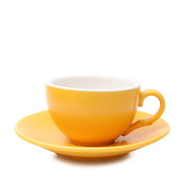 위즈라인 커피잔/에스프레소잔 무광 까페그릇 소 90ml 옐로우