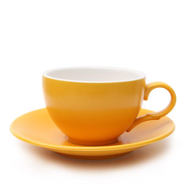 위즈라인 커피잔 무광 중 250ml 옐로우
