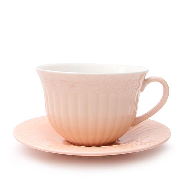 플라워앤바인 커피잔 찻잔/파스텔톤 러블리컬러 핑크