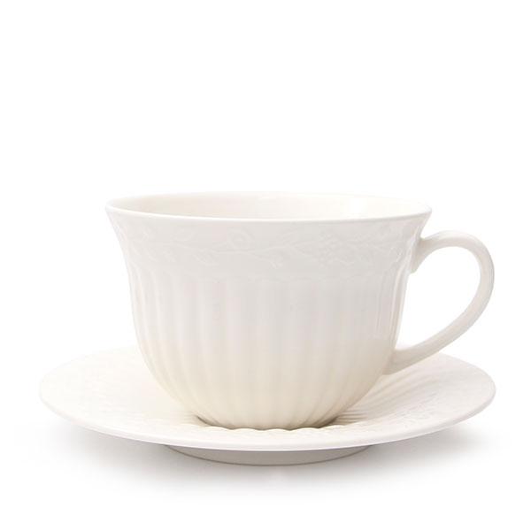 플라워앤바인 커피잔 찻잔/파스텔톤 러블리컬러 화이트