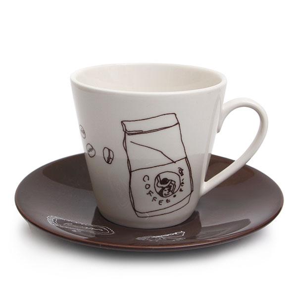 마에바타 커피잔 화이트