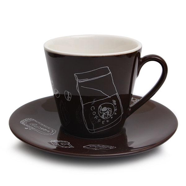 마에바타 커피잔 초코