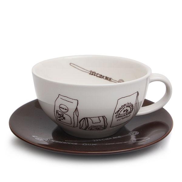 마에바타 커피잔 대 화이트