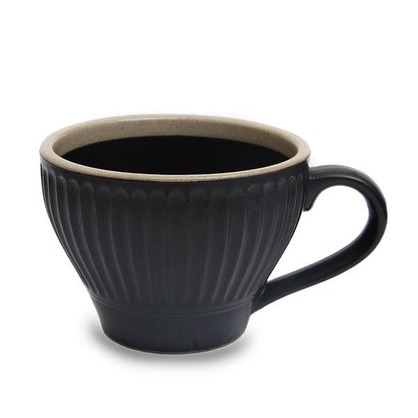 수도상사 튤립 컵 블랙