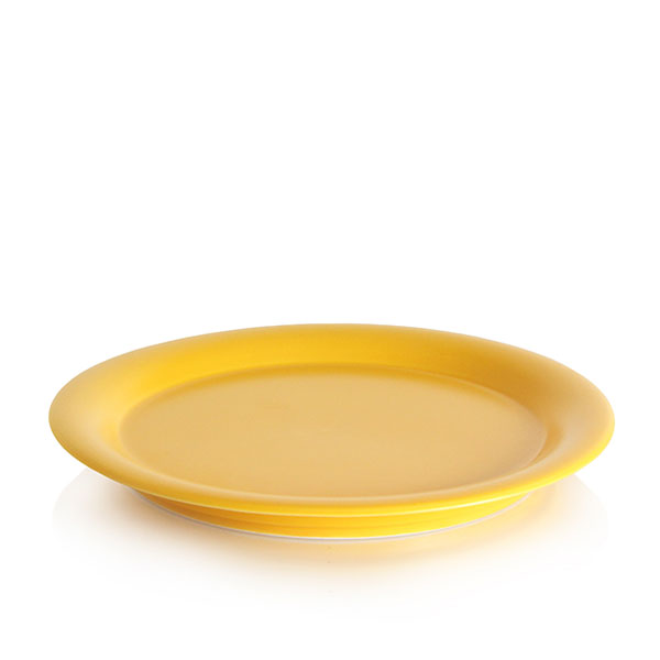 위즈라인 원형 둥근빗면 접시 6인치 옐로우