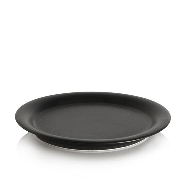 위즈라인 원형 둥근빗면 접시 6인치 블랙