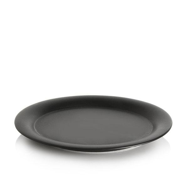 위즈라인 원형 둥근빗면 접시 8인치 블랙