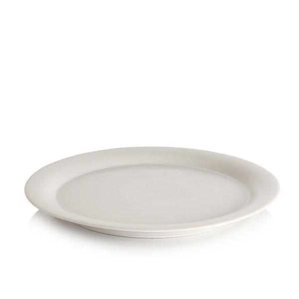 위즈라인 원형 둥근빗면 접시 10인치 그레이