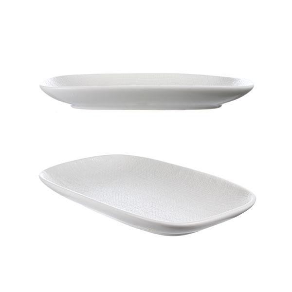 루전 니트 직사각 접시 소 화이트