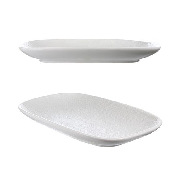 루전 니트 직사각 접시 중 화이트