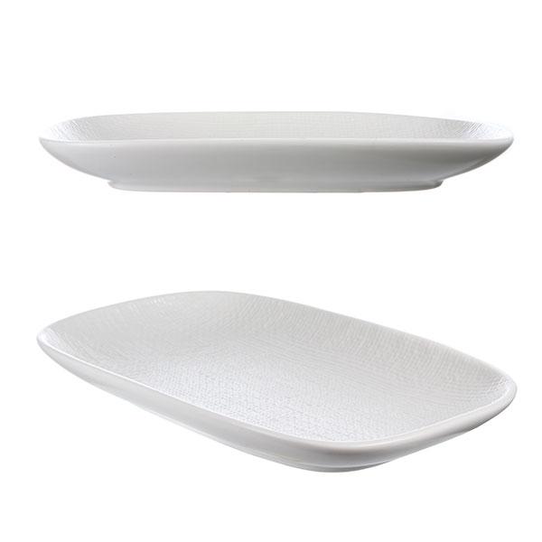 루전 니트 직사각 접시 대 화이트