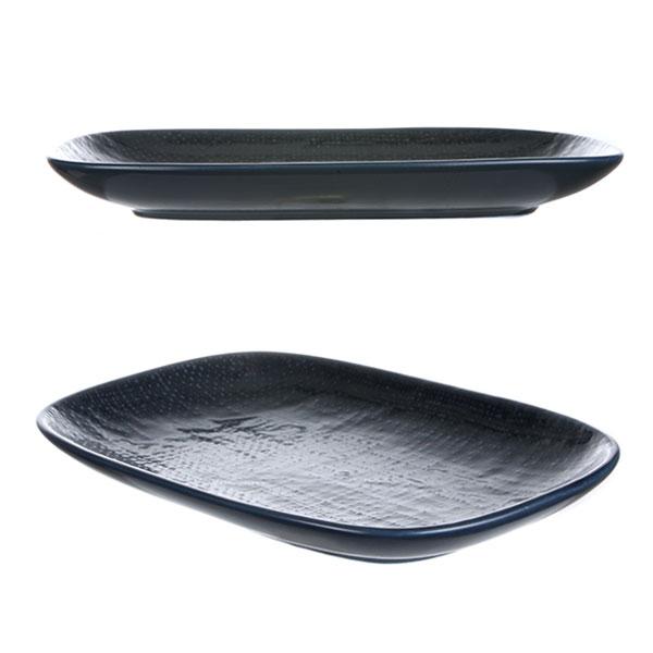 루전 니트 직사각 접시 대 네이비