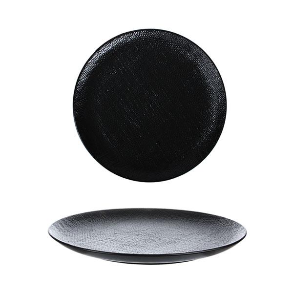 루전 니트 원형 접시 소 블랙