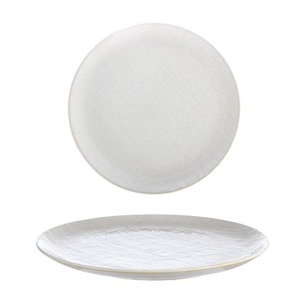 루전 니트 원형 접시 중 아이보리