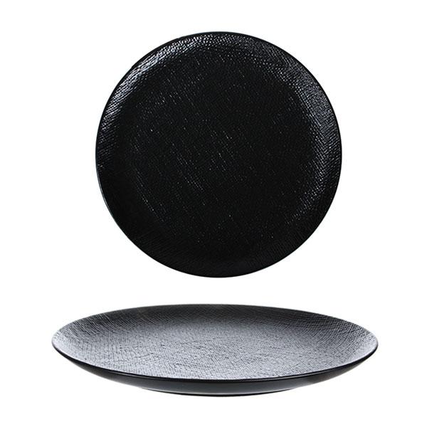 루전 니트 원형 접시 중 블랙