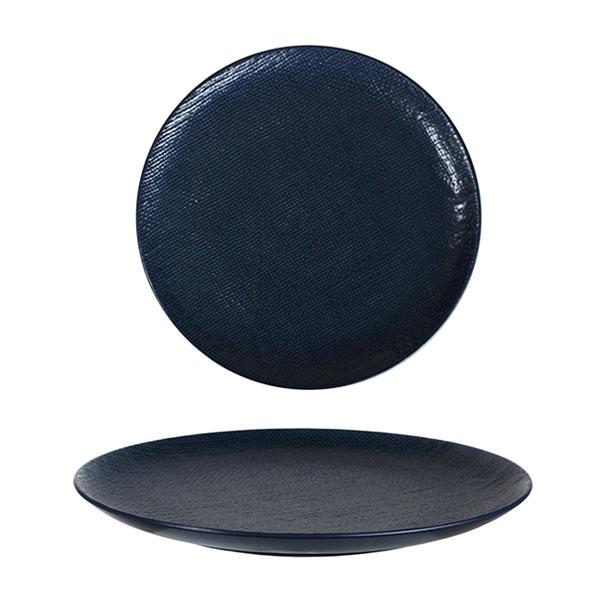루전 니트 원형 접시 중 네이비