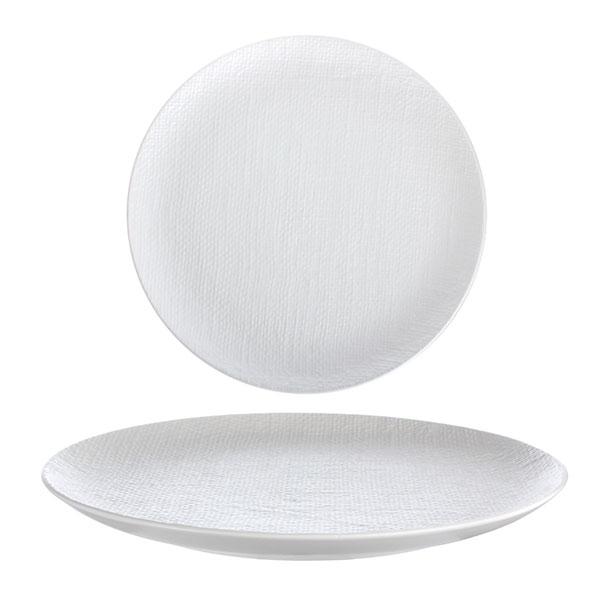 루전 니트 원형 접시 대 화이트