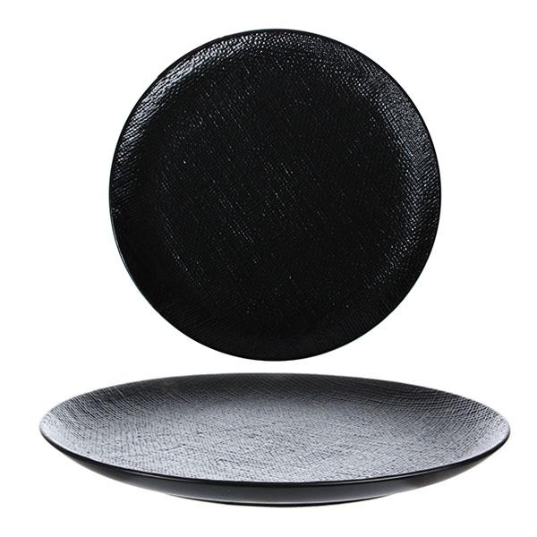 루전 니트 원형 접시 대 블랙