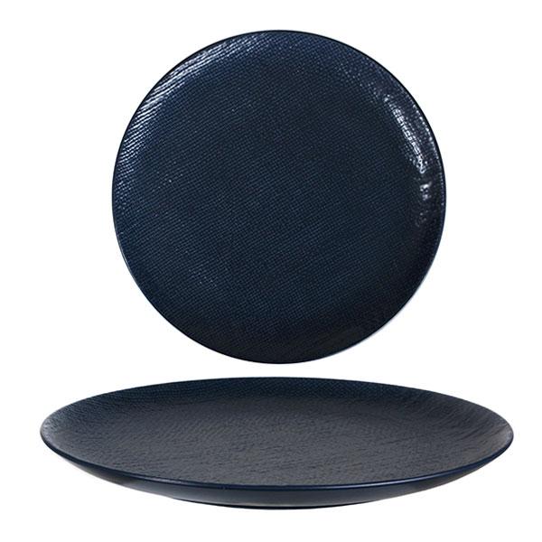 루전 니트 원형 접시 대 네이비