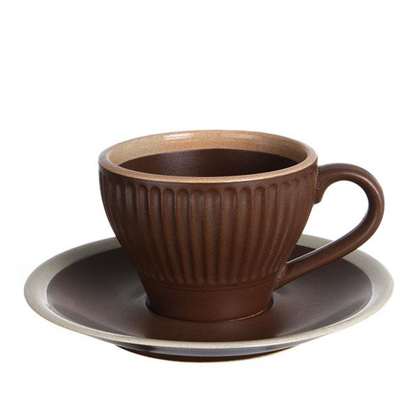 도자기 커피잔 브라운