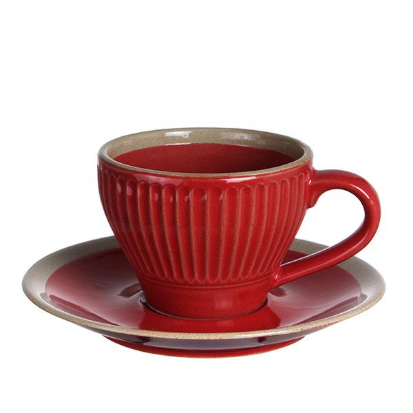 도자기 커피잔 레드