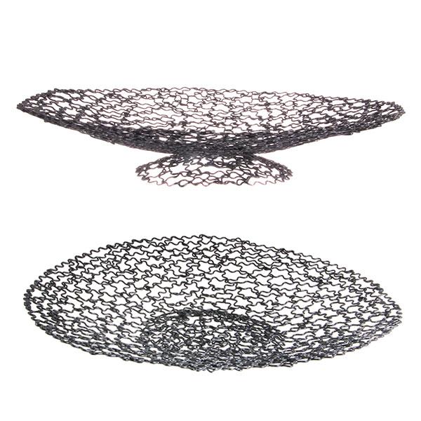 원형 철바구니 빵바구니 튀김 접시 블랙