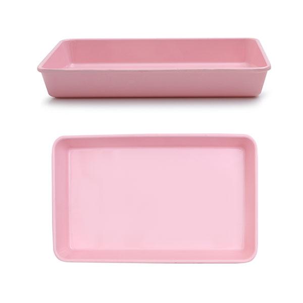 멜라민  높은 쟁반 26 x 16 x 3.5 핑크 아기 유아 식판 유치원 어린이집 식판