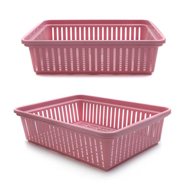 다용도 수납 바구니 34.5 x 24.7 x 9.6 핑크