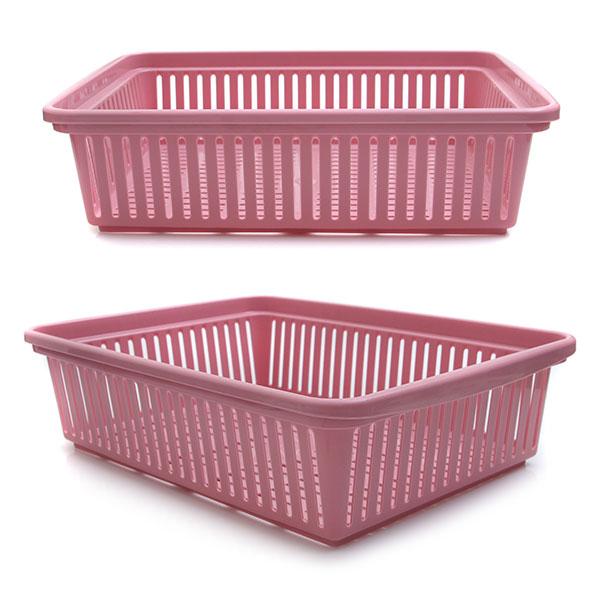 다용도 수납 바구니 40.8 x 29.7 x 11.3 핑크