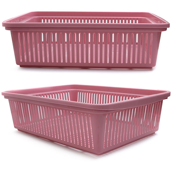 다용도 수납 바구니 54 x 38.7 x 16 핑크