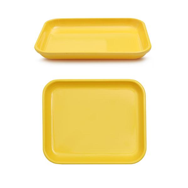 멜라민  낮은 쟁반 18.4 x 14.7 x 2 옐로우 아기 유아 식판 유치원 어린이집 식판