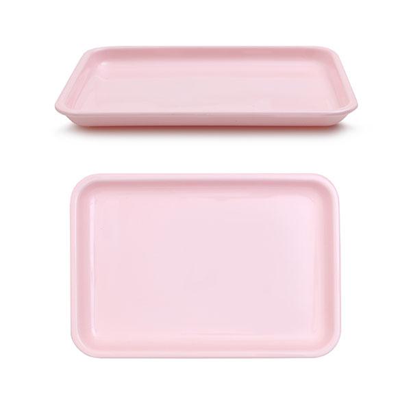 멜라민  낮은 쟁반 23.2 x 15.8 x 2 핑크 아기 유아 식판 유치원 어린이집 식판
