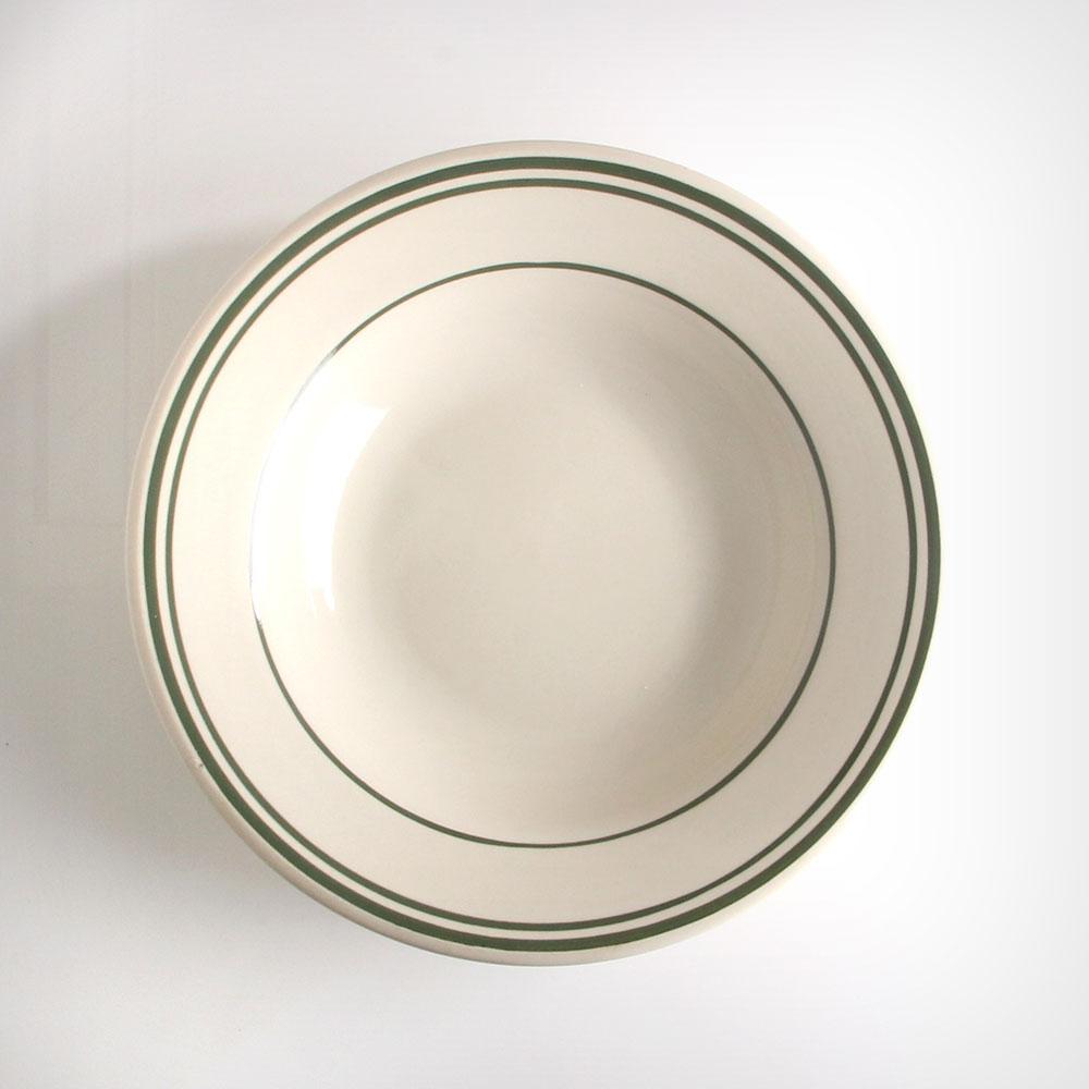 ULTIMA 네츄럴 다크그린 원형 샐러드볼 소 아이보리