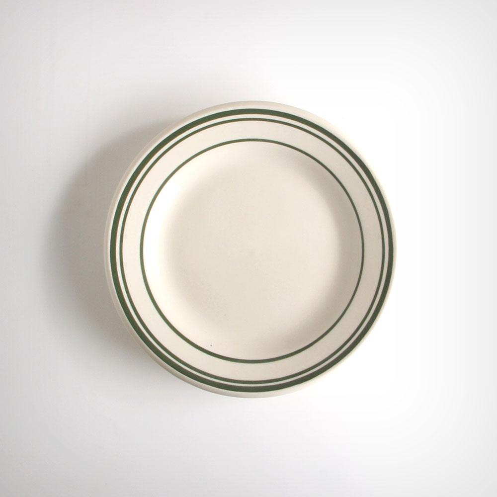 ULTIMA 네츄럴 다크그린 원형 플레이트 접시 중 아이보리