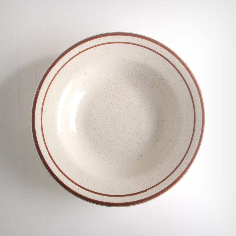 ULTIMA 네츄럴 다크레드 원형 샐러드볼 소 아이보리