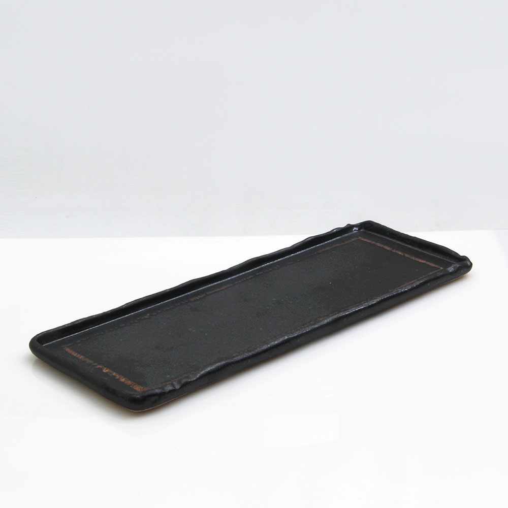 수도상사 핸드메이드 직사각 트레이 접시 소 블랙