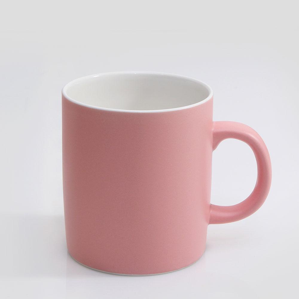 위즈라인 심플한 중머그 400ml 핑크