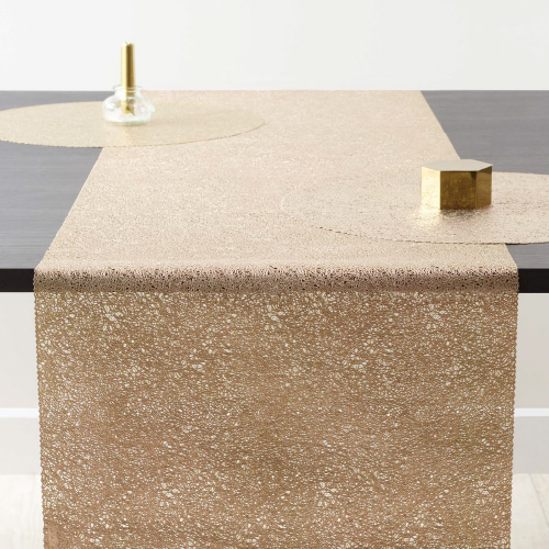 ZICZAC 스파게티 테이블 러너 직사각형 골드