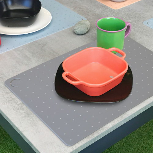 로쏘꼬모 테이블 플레이스매트 도트 그레이